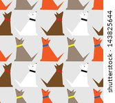Stock vector dogs pattern 143825644