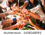 happy and cheerful group of... | Shutterstock . vector #1438268093
