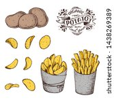 potato vector illustration. raw ... | Shutterstock .eps vector #1438269389