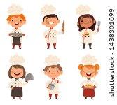 characters set of children... | Shutterstock . vector #1438301099