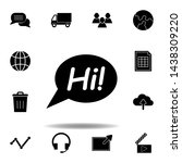 bubble  chat message ...