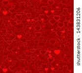 valentine's background with... | Shutterstock . vector #143831206