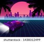retro future. 80s style sci fi... | Shutterstock .eps vector #1438312499