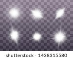 white glowing light explodes on ... | Shutterstock .eps vector #1438315580