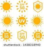 set of sun protection uv index  ... | Shutterstock .eps vector #1438318940