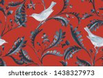 seamless pattern with birds and ...   Shutterstock . vector #1438327973