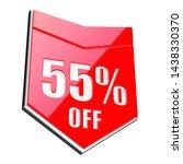 55 percent off red arrow   3d...   Shutterstock . vector #1438330370