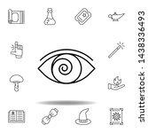 magic hypnosis outline icon....