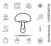 magic food mushroom outline...