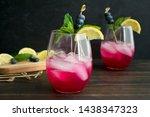 sparkling blueberry lemonade...   Shutterstock . vector #1438347323
