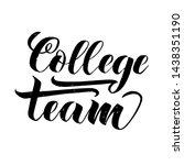 cheerleading team lettering... | Shutterstock .eps vector #1438351190