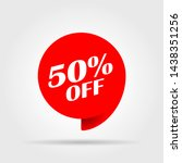 special offer sale red tag.... | Shutterstock .eps vector #1438351256
