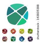 design logo element. crushing... | Shutterstock .eps vector #143835388