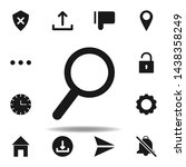 user magnifier search icon. set ...