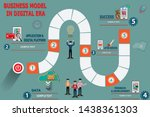 business board game step to... | Shutterstock .eps vector #1438361303