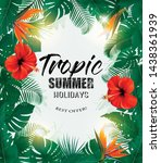 summer holiday background with... | Shutterstock .eps vector #1438361939