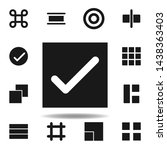 user website check icon. set of ...