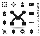 user path anchor icon. set of...