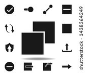 user layout layer icon. set of...