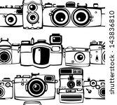 vintage film photo cameras ... | Shutterstock . vector #143836810