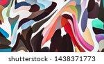 watercolor marble art. liquid... | Shutterstock . vector #1438371773
