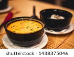 Stock photo tom yam kong or tom yum tom yam is a spicy clear soup typical in thailand and no thai dish 1438375046