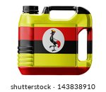 uganda flag  painted on gas can | Shutterstock . vector #143838910