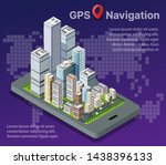 isometric city map navigations... | Shutterstock .eps vector #1438396133