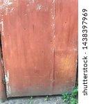 red worn rusty metal texture....   Shutterstock . vector #1438397969