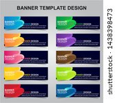 set of modern banners... | Shutterstock .eps vector #1438398473