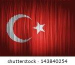 turkey. turkish flag  wavy... | Shutterstock . vector #143840254