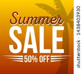 summer sale background with... | Shutterstock .eps vector #1438403930