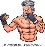 old scarred mma fighter... | Shutterstock .eps vector #1438409030