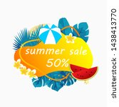 summer sale poster banner with...   Shutterstock .eps vector #1438413770