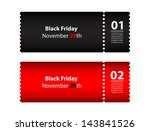 black friday coupon | Shutterstock . vector #143841526