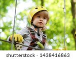 High Ropes Walk. Helmet And...
