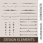 decorative swirls dividers. old ... | Shutterstock .eps vector #1438420670
