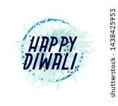 happy diwali  beautiful... | Shutterstock .eps vector #1438425953