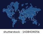 digital world. network of... | Shutterstock .eps vector #1438434056