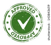 green rubber stamp or seal with ...   Shutterstock .eps vector #143843659