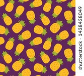 pineapple seamless pattern....   Shutterstock .eps vector #1438438049