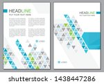 blue and grey triangle cover... | Shutterstock .eps vector #1438447286