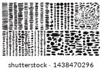 large set different grunge... | Shutterstock .eps vector #1438470296