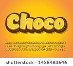 choco sticker design for snack... | Shutterstock .eps vector #1438483646