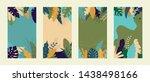 vector set of abstract tropical ... | Shutterstock .eps vector #1438498166