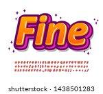 modern font effect with trendy... | Shutterstock .eps vector #1438501283