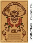 dia de los muertos  day of the...   Shutterstock .eps vector #1438503443
