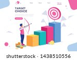 marketing moving up path.... | Shutterstock .eps vector #1438510556