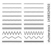 set of seamless wavy  zigzag.... | Shutterstock .eps vector #1438524503