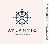marine steering wheel vector... | Shutterstock .eps vector #1438528679